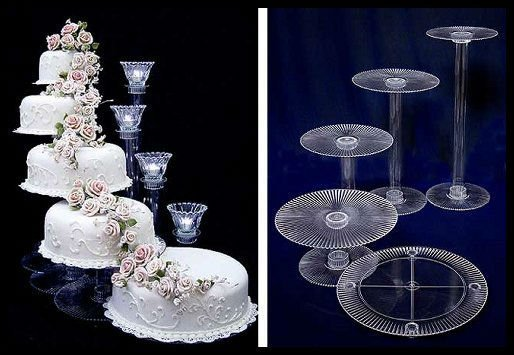 Tier Acrylic Wedding Cake Stand