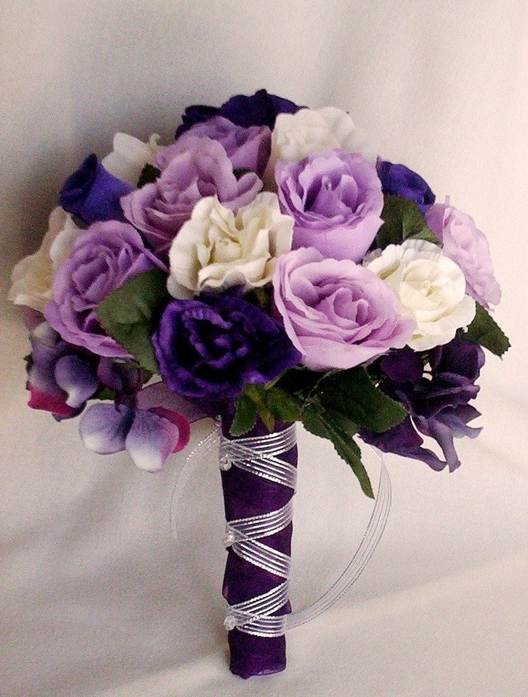 Cheap Silk Flower Bouquets For Weddings Wedding And Bridal