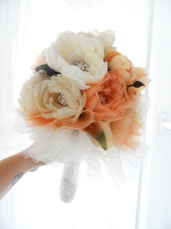 DIY Silk Flower Wedding Bouquets