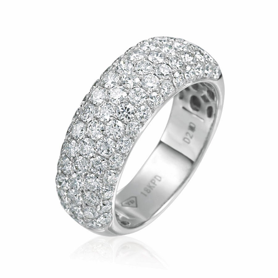 The beauty of diamond wedding bands wedding and bridal for Wedding band for engagement ring