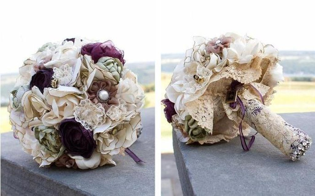 Как сделать свадебный букет своими руками на стол