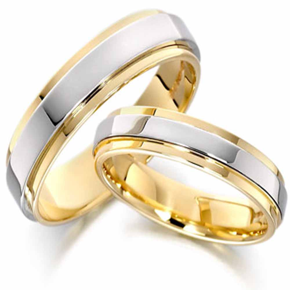 Gold and silver wedding bands wedding and bridal inspiration for Wedding rings silver and gold