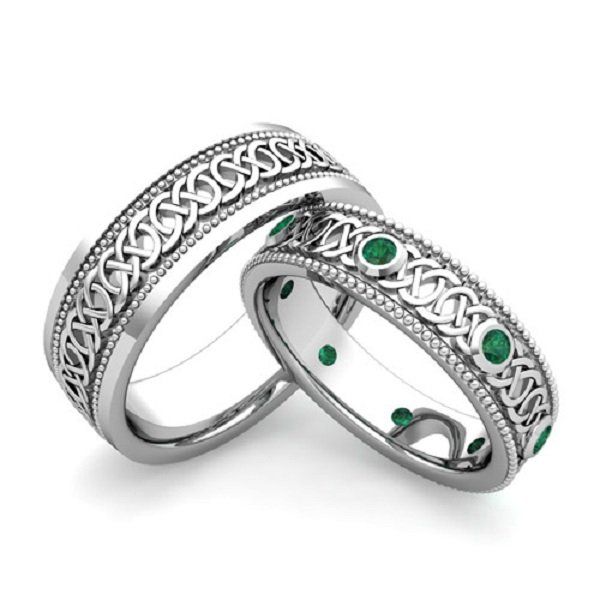 His And Hers Celtic Wedding Bands