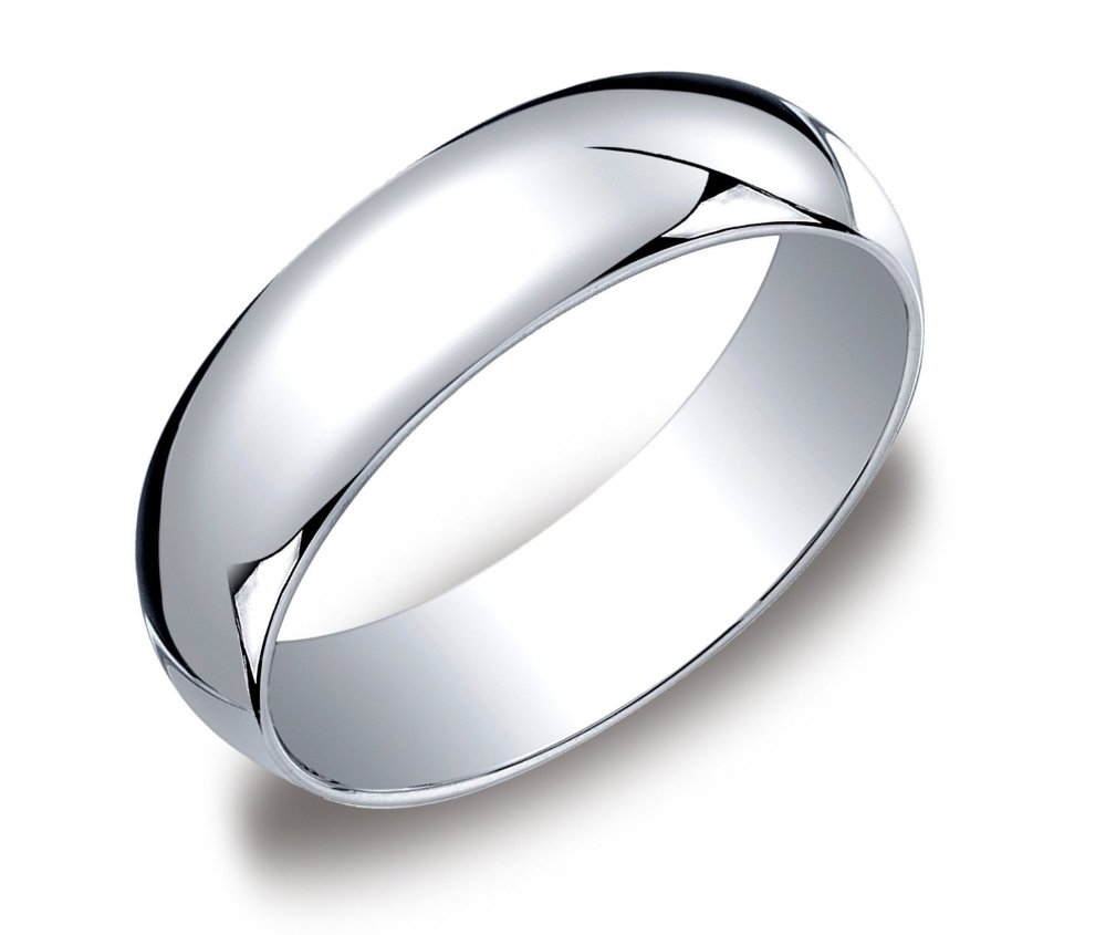 Mens 10k White Gold Wedding Bands