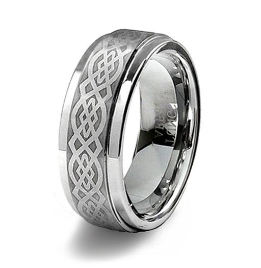 Mens Tungsten Celtic Wedding Bands
