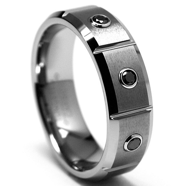 mens tungsten wedding bands with black diamonds wedding. Black Bedroom Furniture Sets. Home Design Ideas