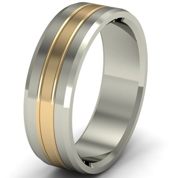 mens white and yellow gold wedding bands wedding and