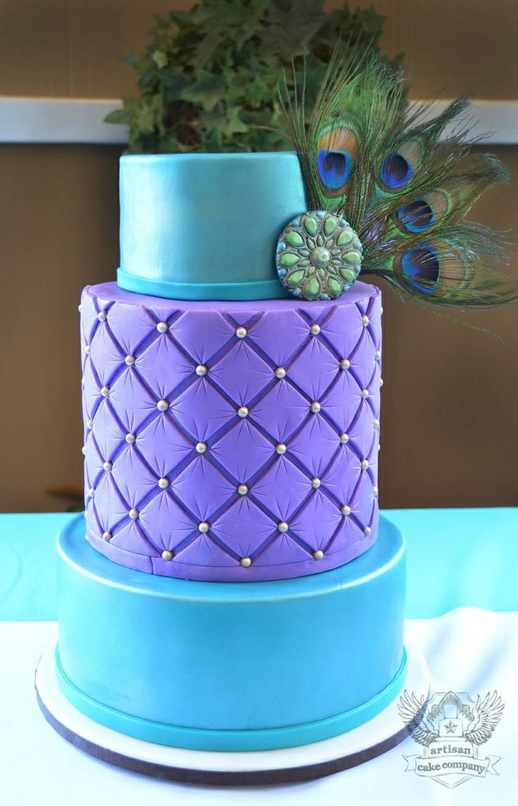 Wedding Cakes Peacock Colors
