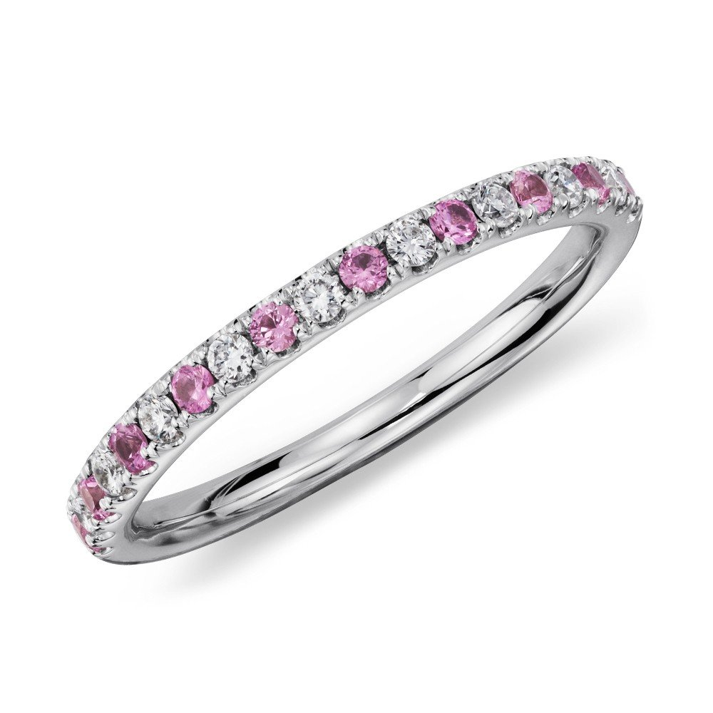 pink diamond wedding band wedding and bridal inspiration