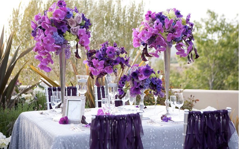 Purple Flower Centerpieces For Weddings