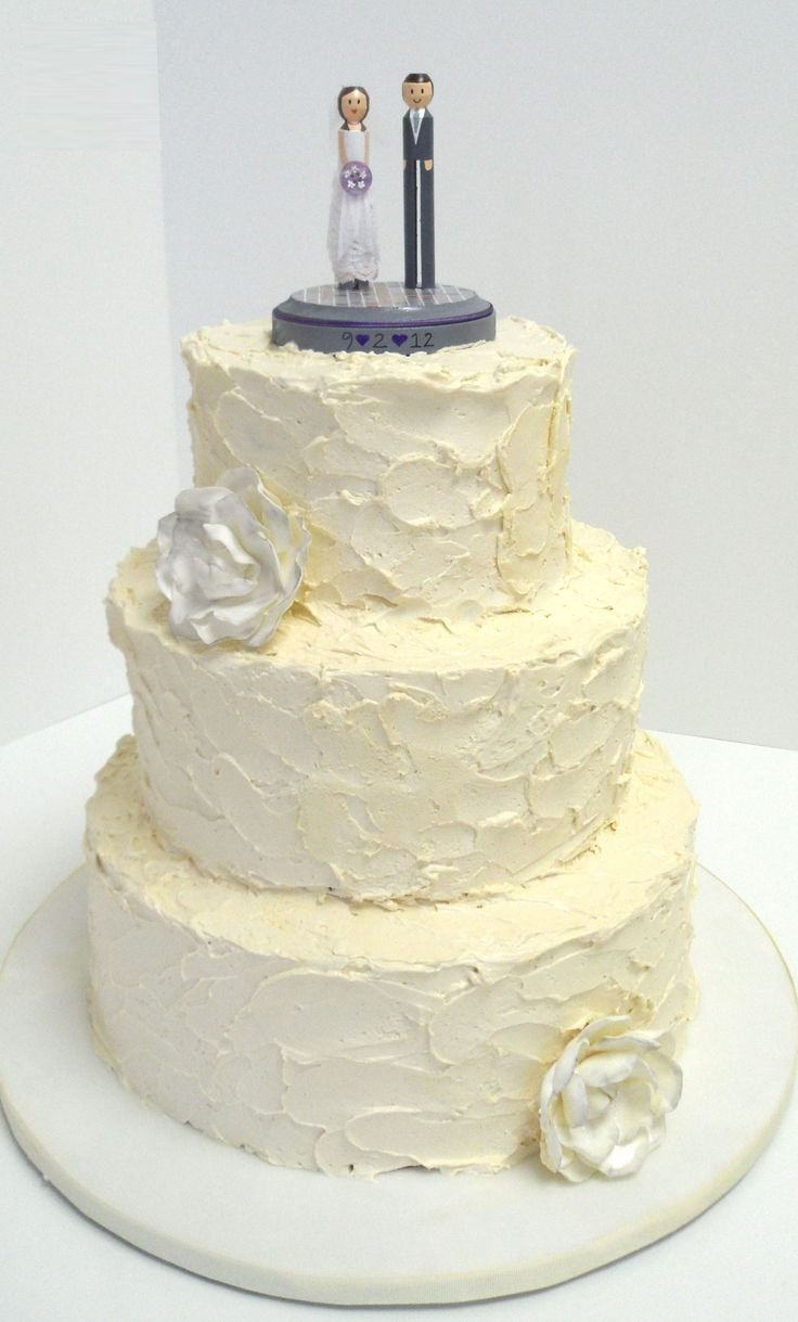 Wedding Cake Decorating Buttercream : Simple Buttercream Wedding Cakes - Wedding and Bridal Inspiration
