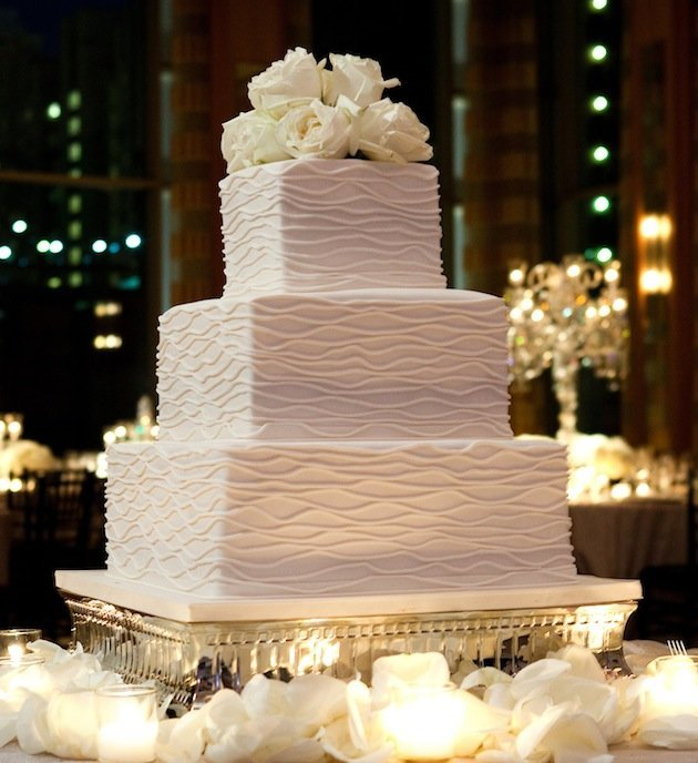 Simple Square Wedding Cakes - Wedding and Bridal Inspiration