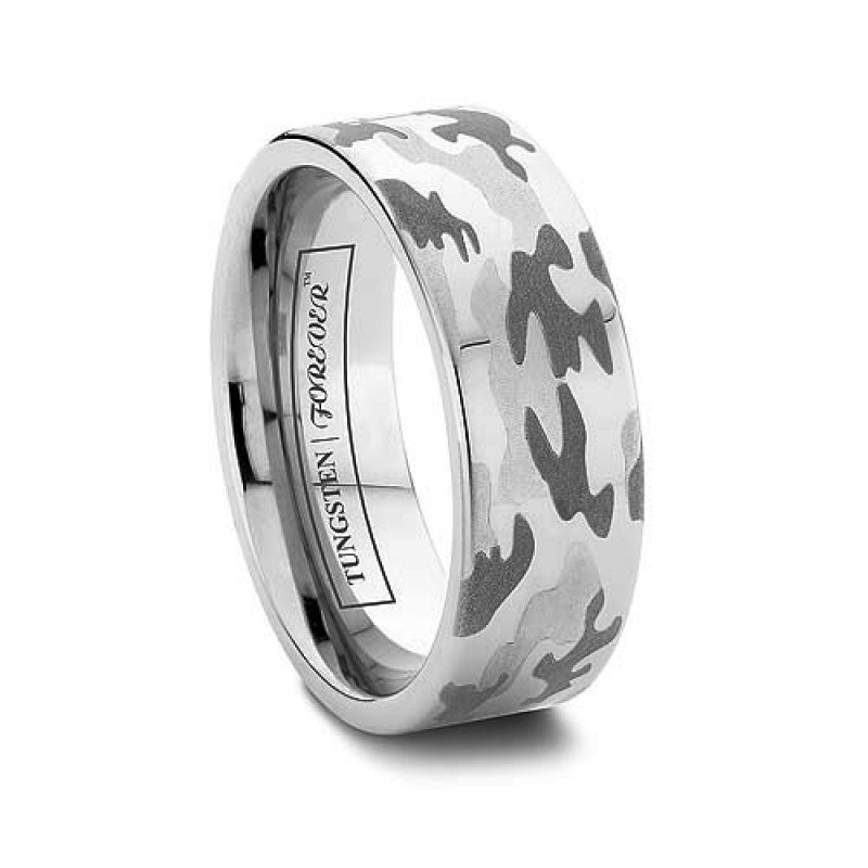 tungsten camo wedding bands for men wedding and bridal inspiration. Black Bedroom Furniture Sets. Home Design Ideas