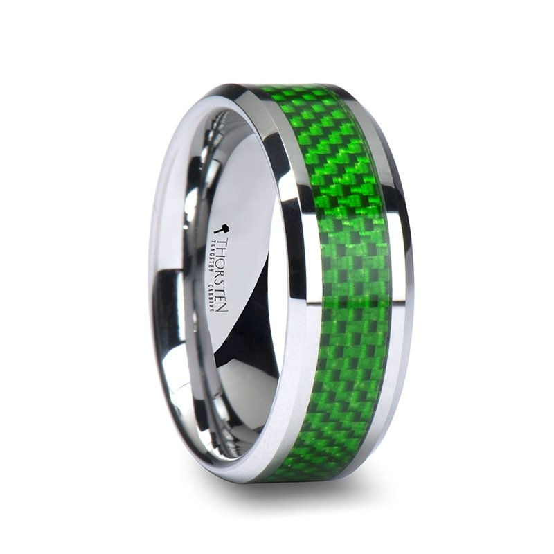 Tungsten carbon fiber wedding bands wedding and bridal for Carbon fibre wedding ring