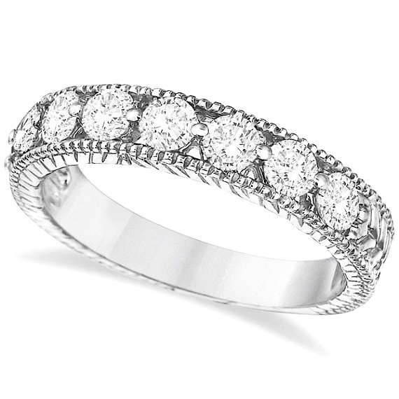 Vintage White Gold Wedding Bands Wedding and Bridal Inspiration