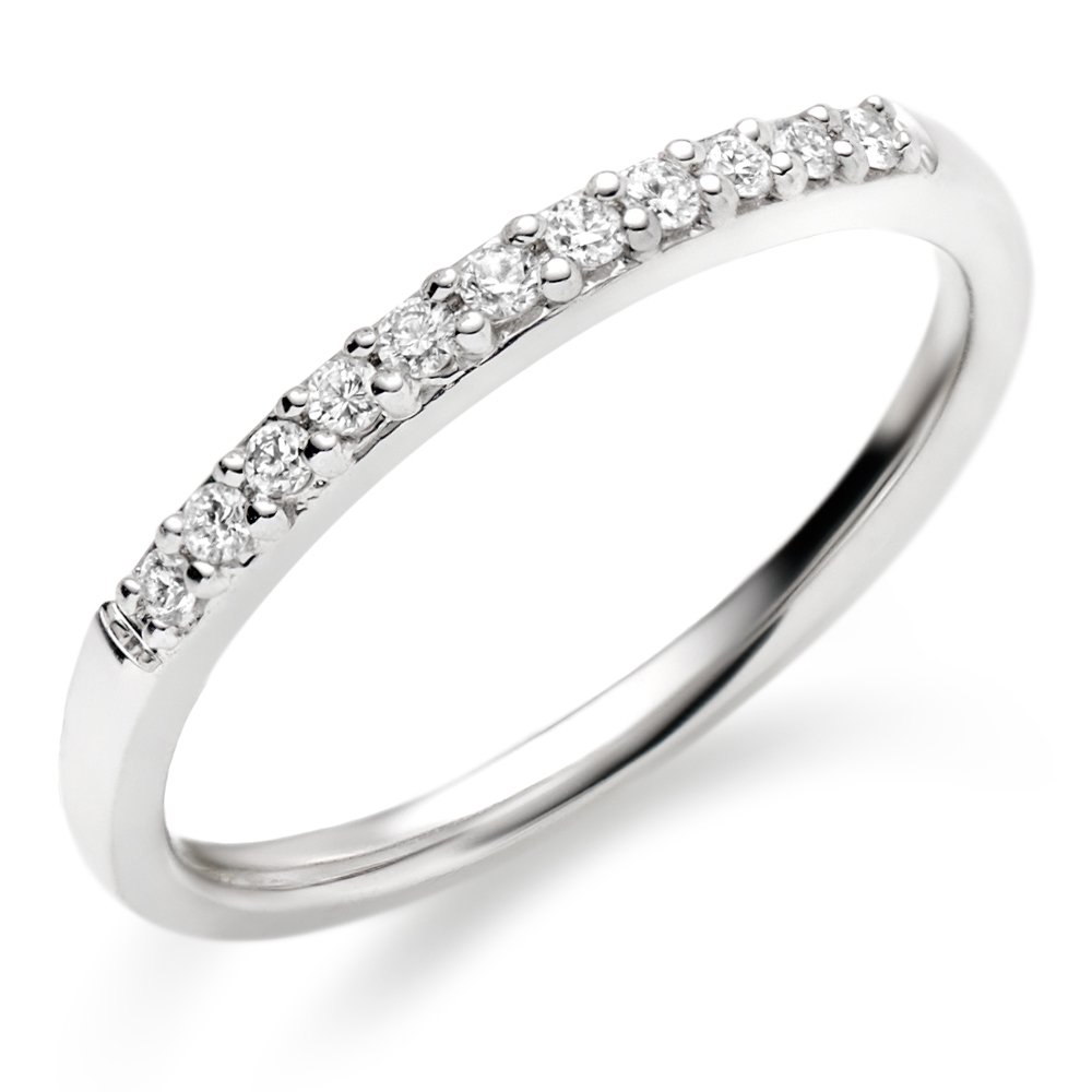 White Gold Wedding Rings For Women With Diamonds White Gold Diamond Wed...