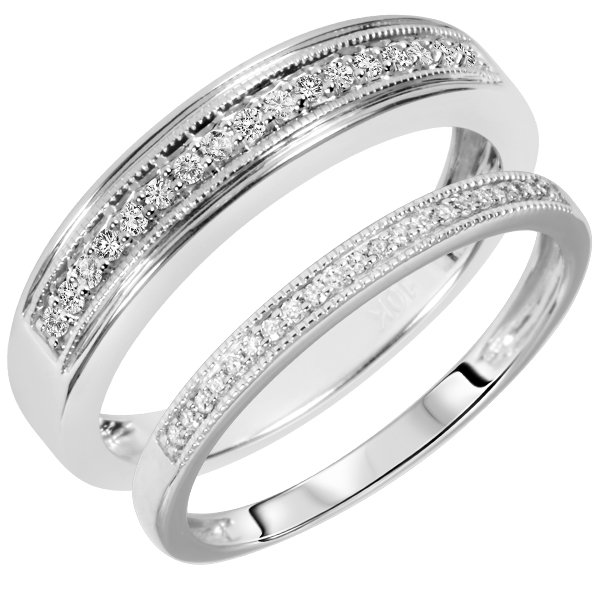 white gold wedding band sets his hers wedding and bridal