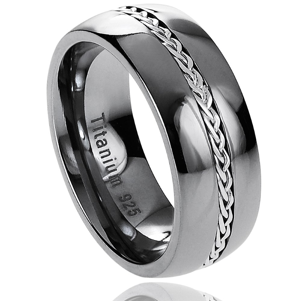 Black Titanium Wedding Bands For Him Wedding And Bridal