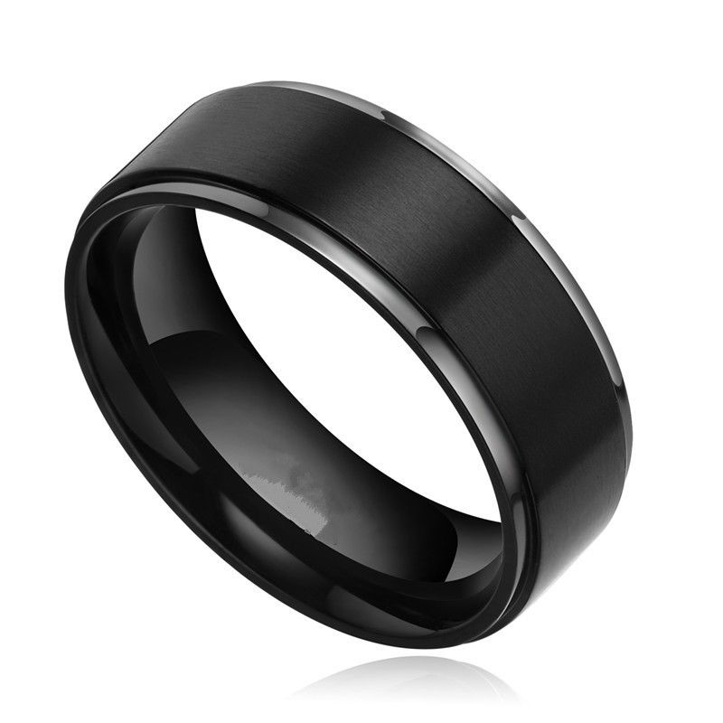 Black Titanium Wedding Bands for Men  Wedding and Bridal Inspiration
