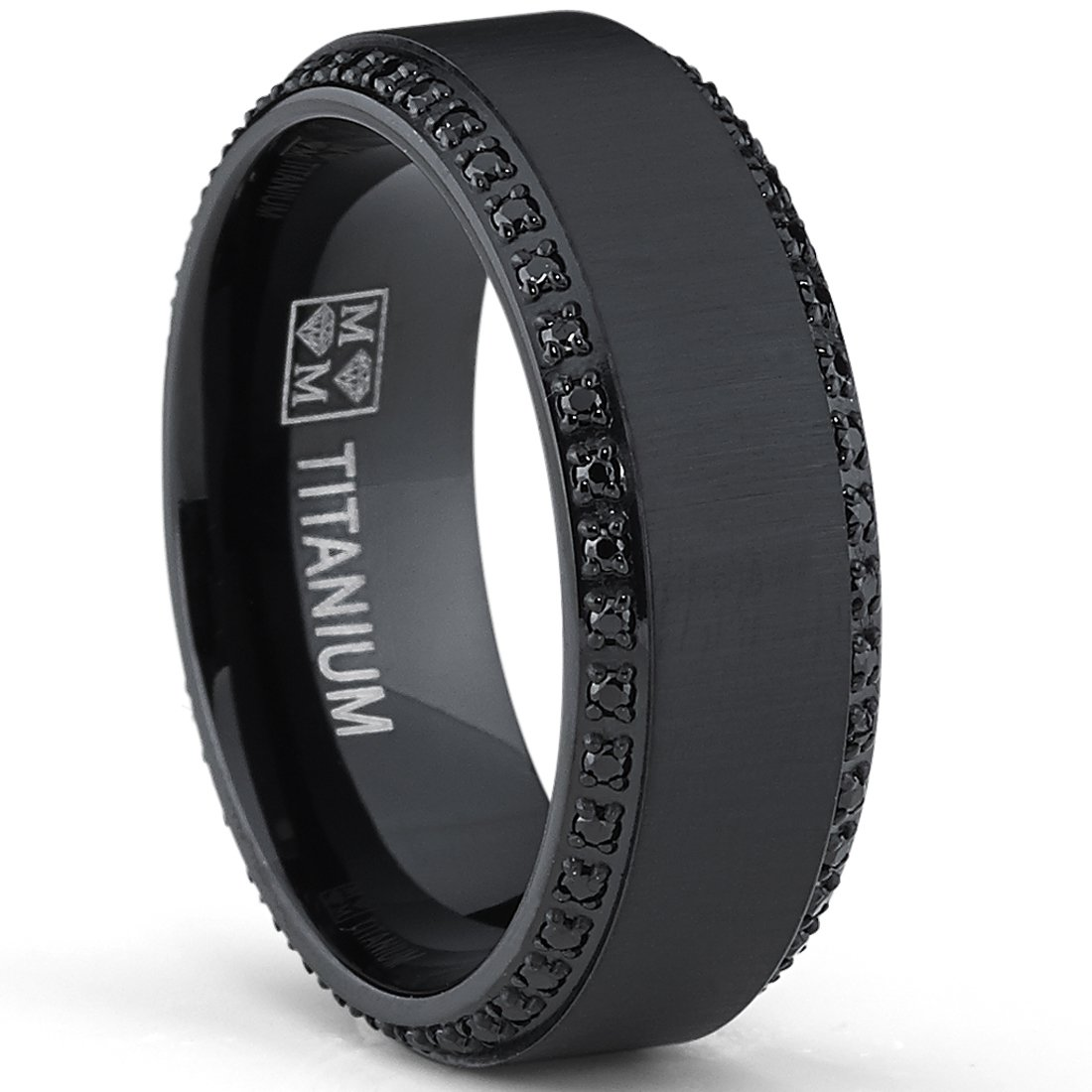 black titanium wedding bands with diamonds wedding and