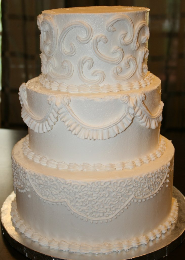 Frosting A Wedding Cake With Buttercream