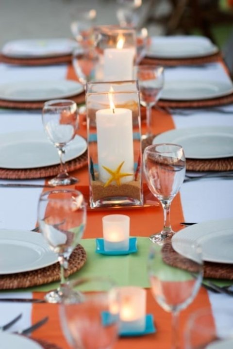 Beach themed wedding diy centerpieces images