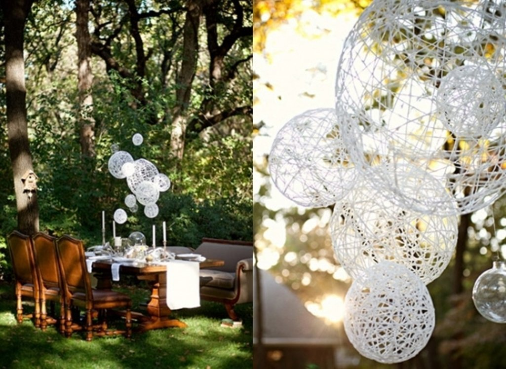 Diy outdoor wedding decorations ideas wedding and bridal for Yard decorations ideas