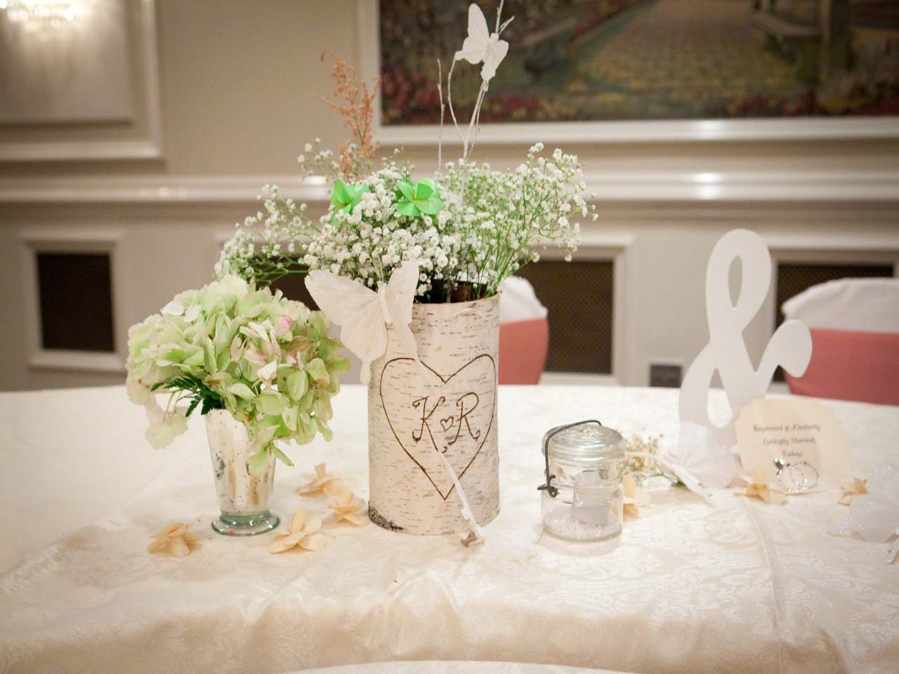 30 stunning wedding reception table setting ideas for Wedding party table decorations