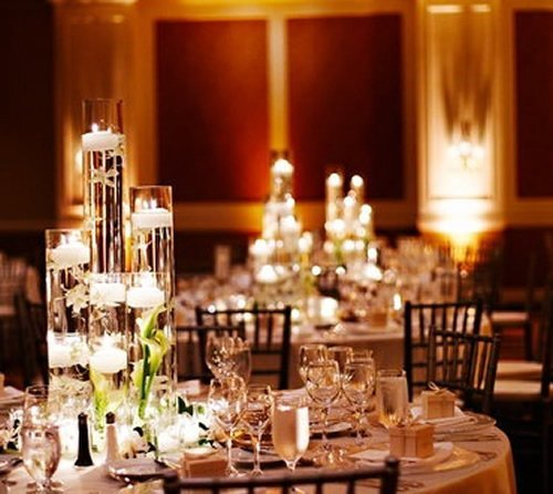 Floating Candle Centerpieces Wedding Reception