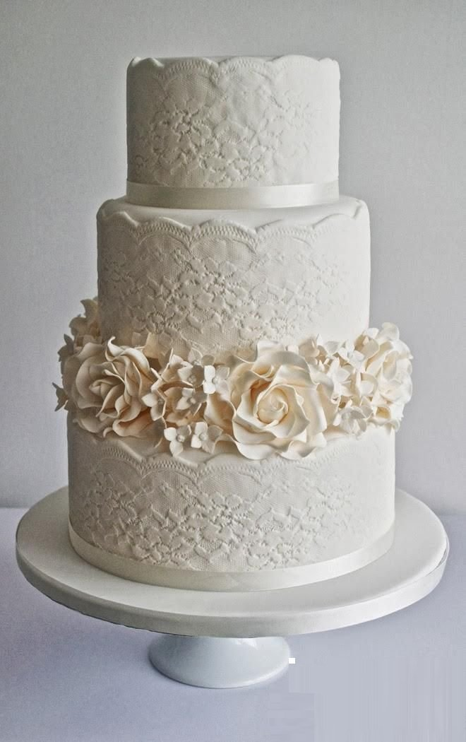 Lace Design Wedding Cake : Lace Wedding Cake Designs - Wedding and Bridal Inspiration