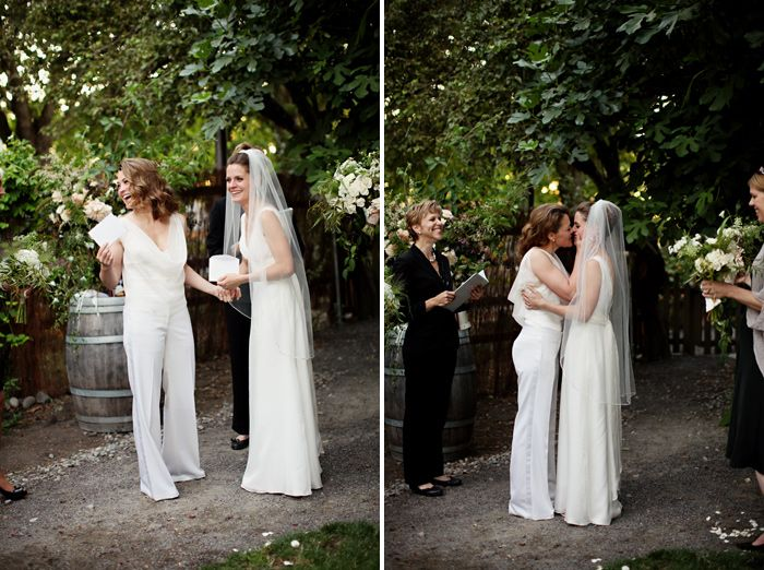 Lesbian wedding outfits wedding and bridal inspiration for Lesbian wedding dresses and suits