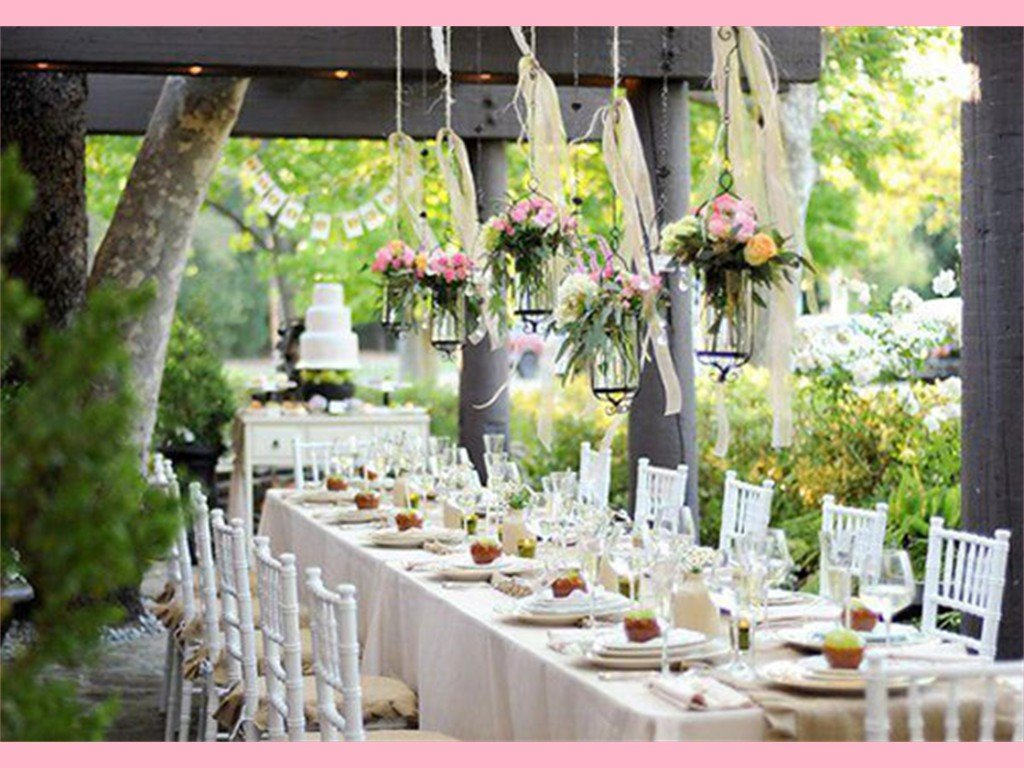 Outdoor country wedding decoration ideas and
