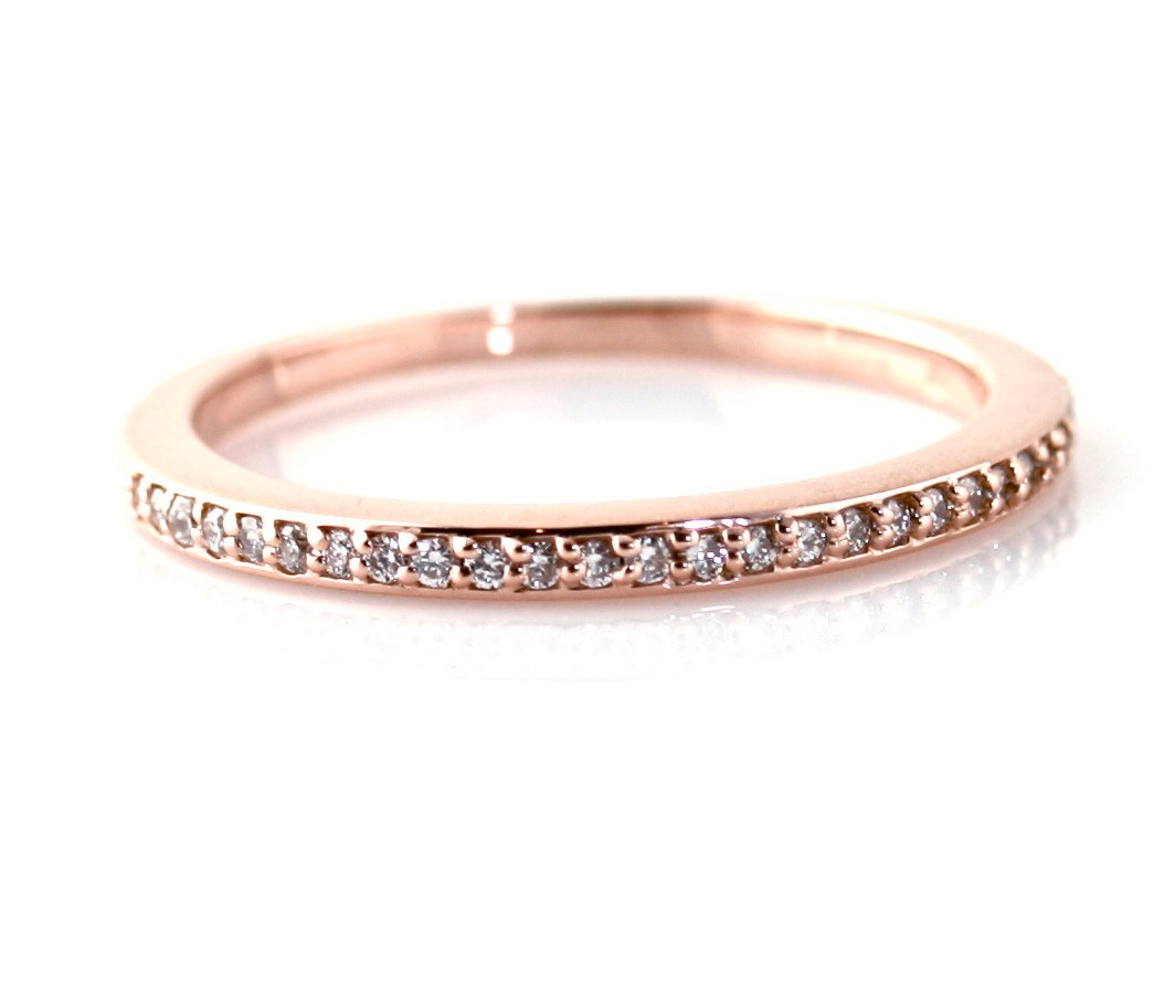 diamond wedding bands women rose gold bands for women