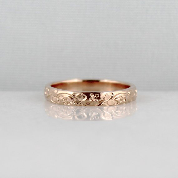 Rose Gold Wedding Bands For Women Wedding And Bridal