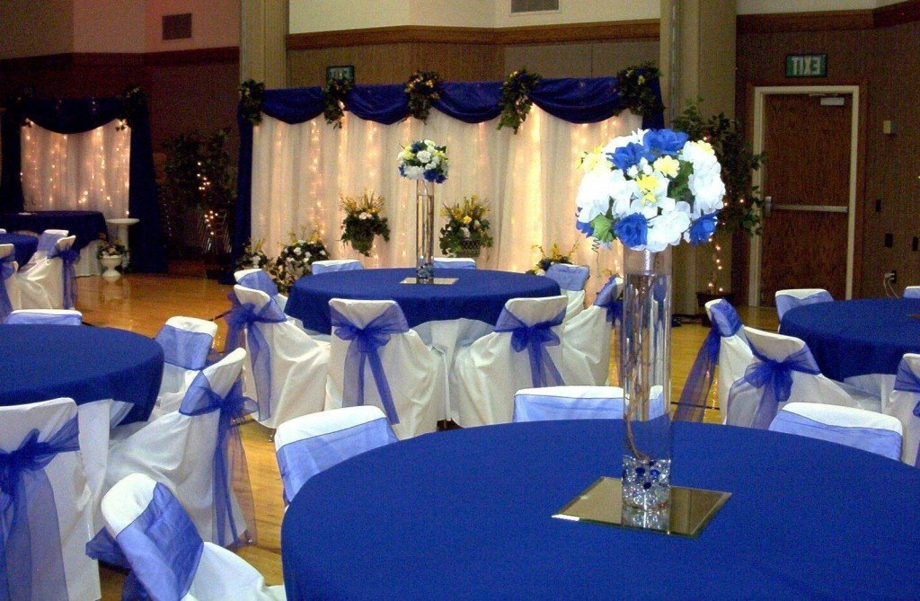 Royal Blue Wedding Centerpieces And Bridal