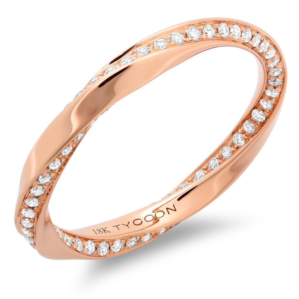 rose gold wedding band document which is arranged within rose gold