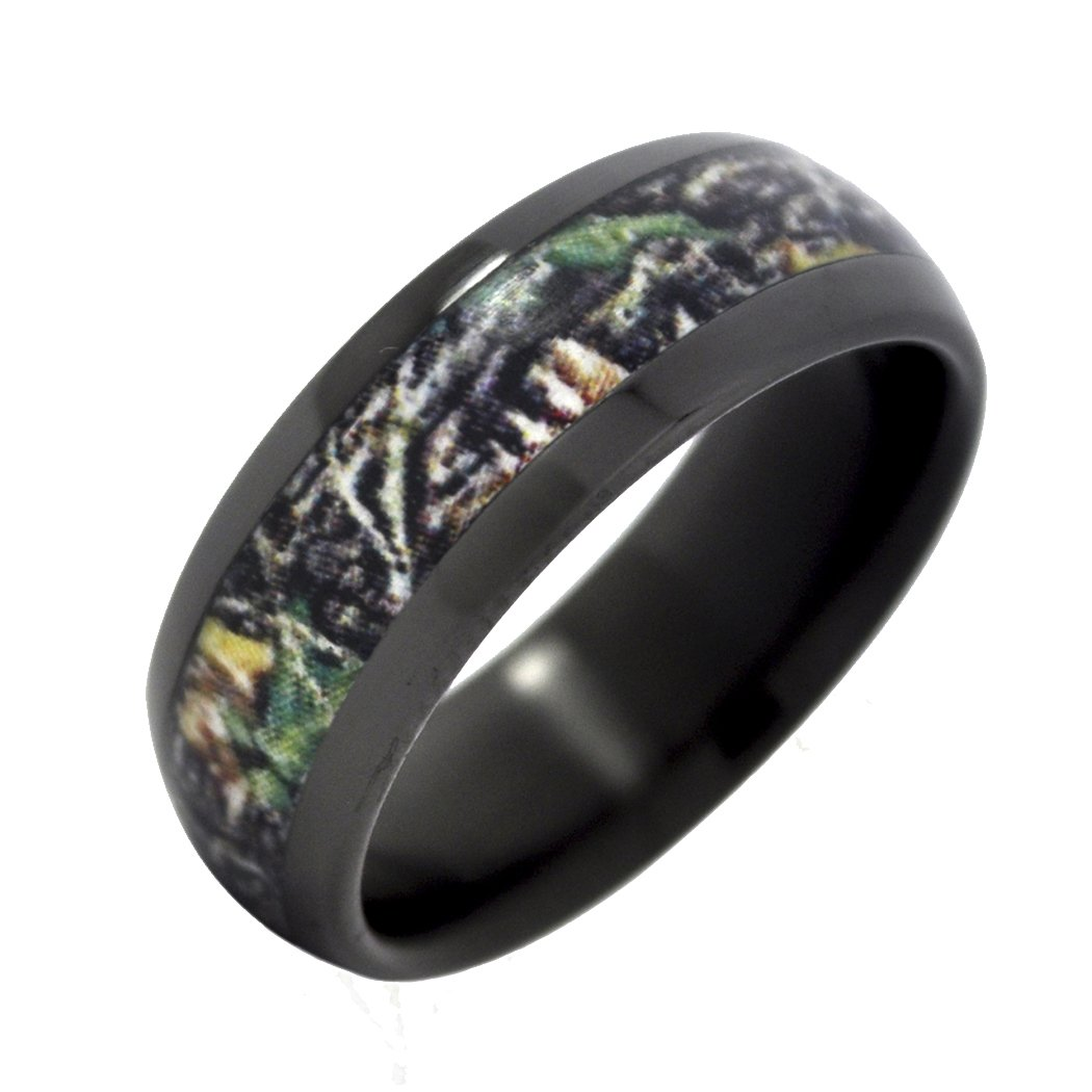 Black camo wedding rings wedding and bridal inspiration for Camoflauge wedding rings