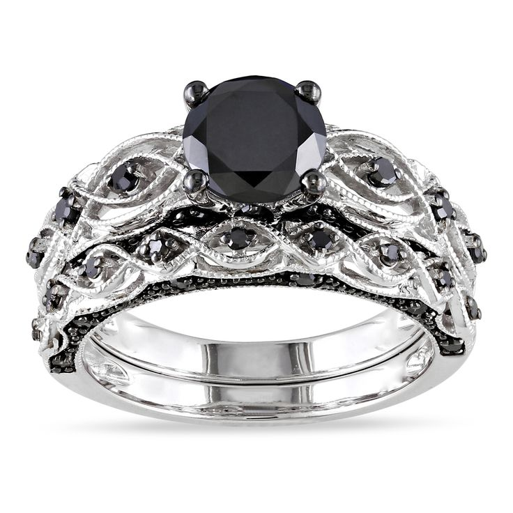 Cheap Black Diamond Wedding Ring Sets for Women Wedding and Bridal Inspiration