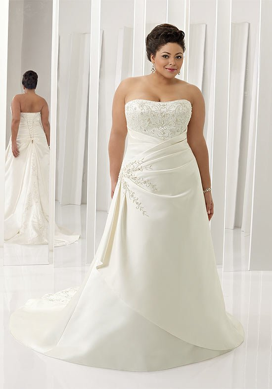plus size discount wedding dress