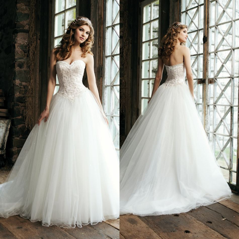Drop waist ball gown wedding dress wedding and bridal for High low ball gown wedding dress