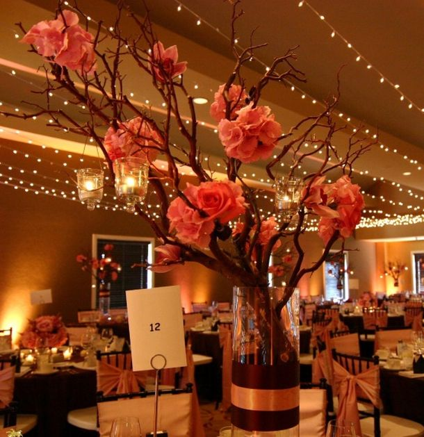 Fall Themed Wedding Centerpieces