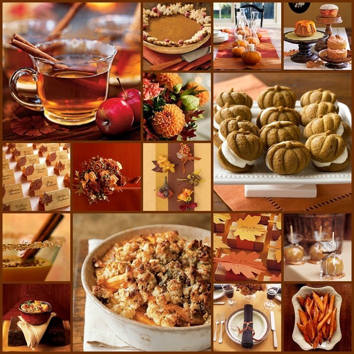 Fall wedding food ideas wedding and bridal inspiration for Autumn wedding decoration ideas