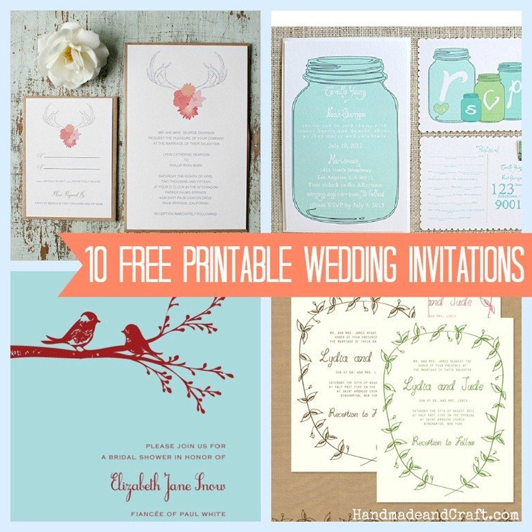 This is an image of Clean Diy Wedding Invitation Templates Free