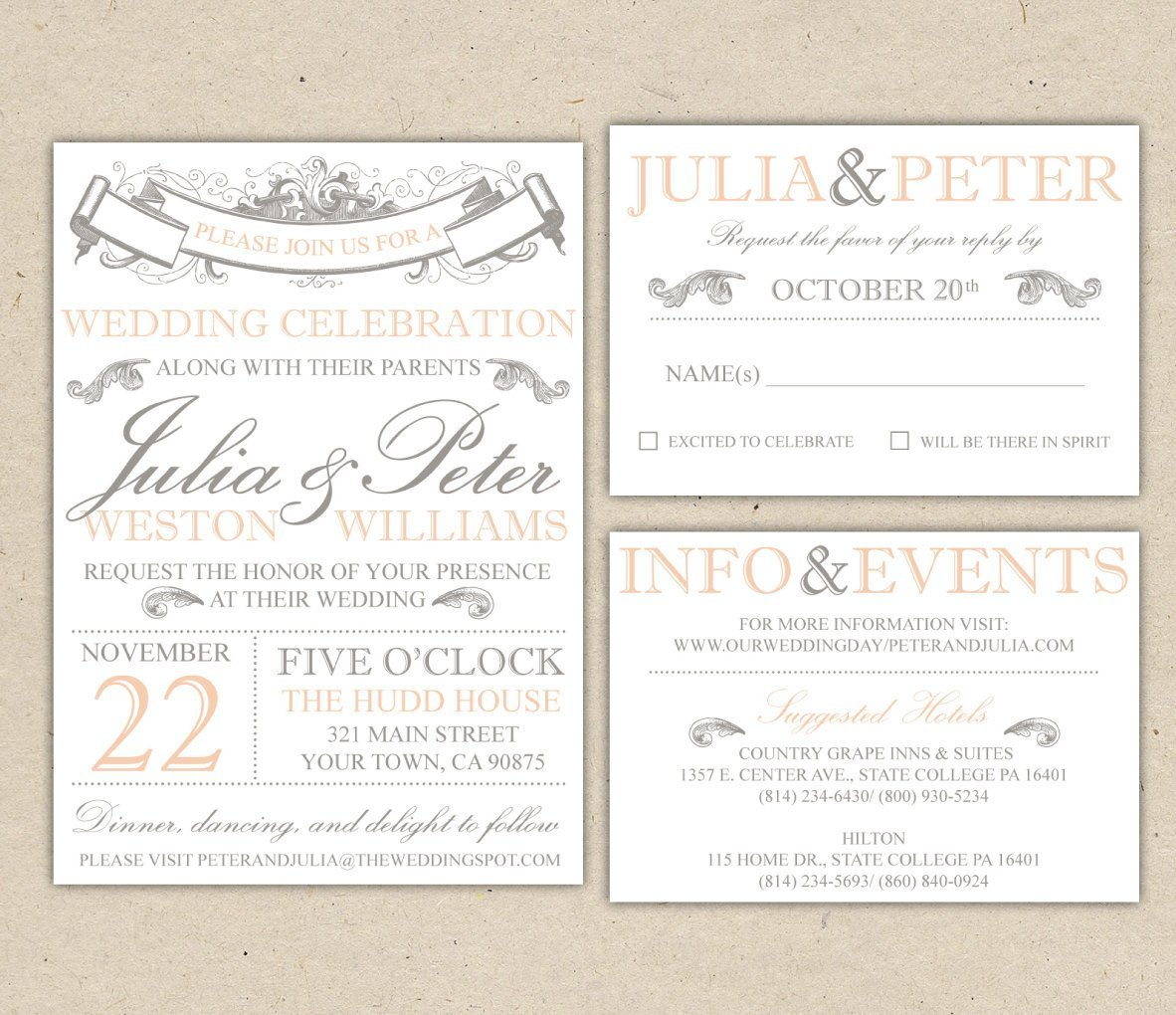 Free Printable Wedding Invitation Templates For Word Wedding And Bridal Ins