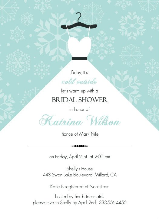 Free Wedding Shower Invitation Templates  Wedding and Bridal