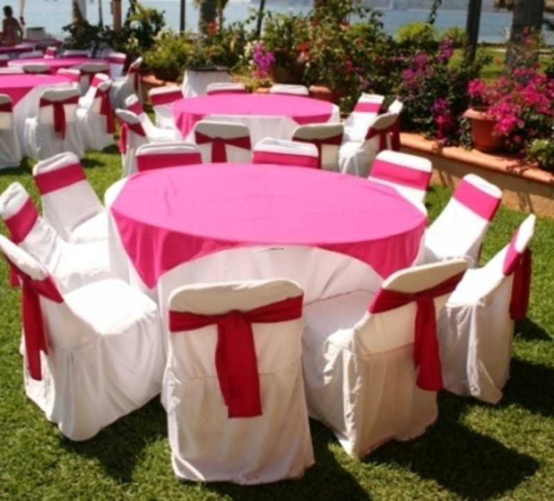 Wedding reception decorations wedding and bridal inspiration for Outdoor wedding table decorations