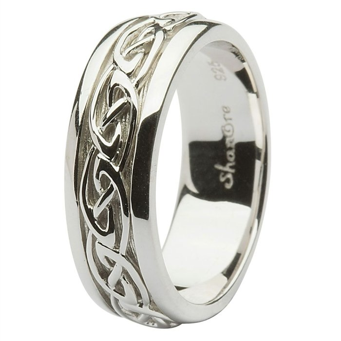 silver wedding rings post which is classified within celtic rings