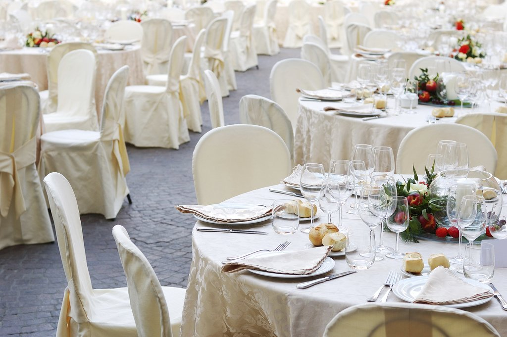Simple wedding reception decorations and bridal