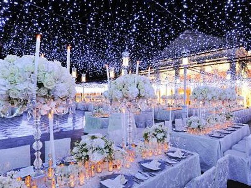 Winter Wedding Reception Decorations