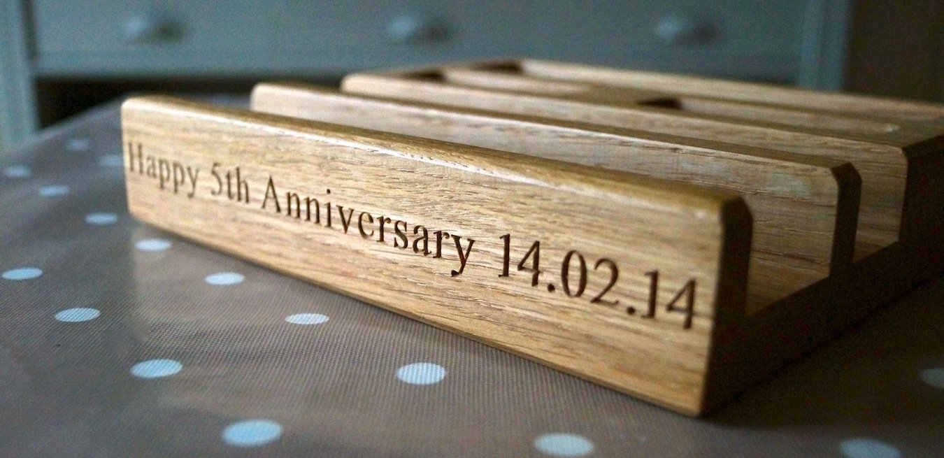 5th Wedding Anniversary Traditional Gifts: 5th Year Wedding Anniversary Gift